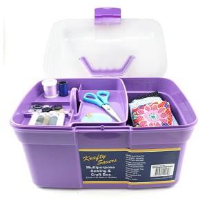 sewing box large purple