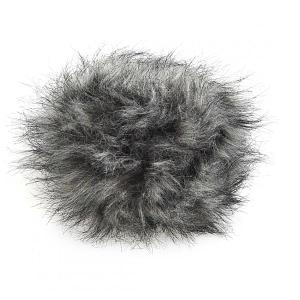 Faux Fur Pom Pom - Grey
