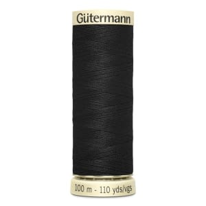 Gutermann Sew-all Thread 100m Colour 000 BLACK