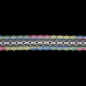 Eyelet Lace 35mm – Multi Colour – 5 Metre Value Pack