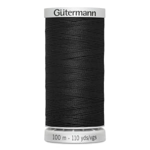 Gutermann Extra Strong Polyester Thread, #000 BLACK