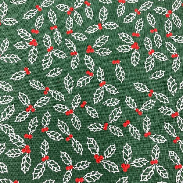 Christmas Print - Holly on Green