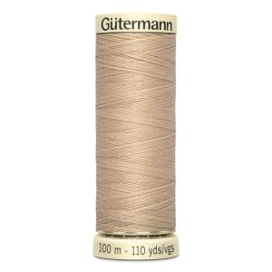 Gutermann Sew-all Thread 100m Colour 186 BEIGE TAN