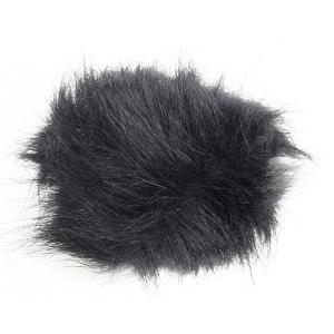 Faux Fur Pom Pom - Black