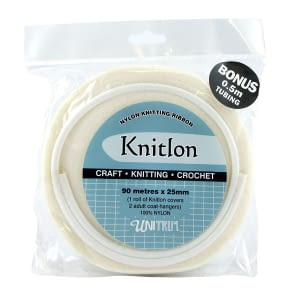Knitlon Nylon Knitting Ribbon - Cream