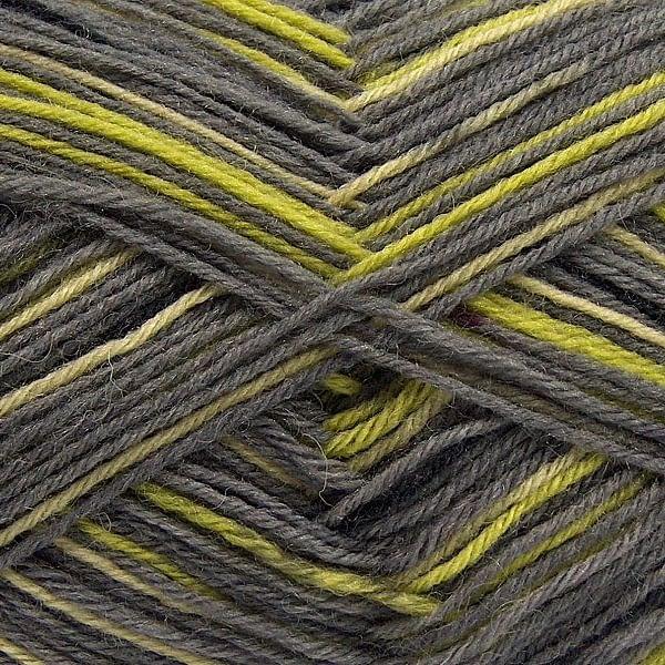 Sock Yarn - Black, Grey & Green