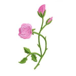 iron on motif roses