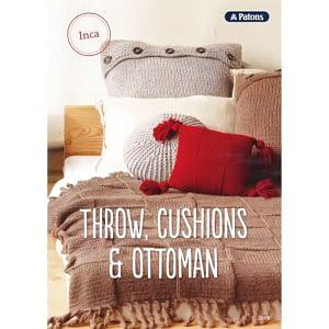Throws, Cushion & Ottoman - Knitting Pattern Book