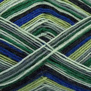 Sock Yarn - Blue, Green & Grey