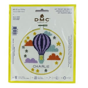 Hot Air Balloon Mini Cross Stitch Kit