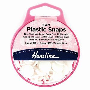 Plastic Fasteners - White