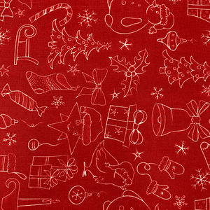 Christmas Print - White on Red