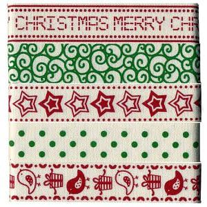 Christmas Ribbon - Set of 5