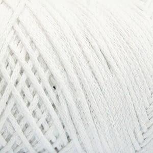 white macrame cotton