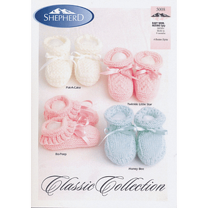 Classic Collection Bootees - Knitting Pattern Leaflet