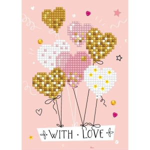 With Love Balloons - Diamond Dotz Greeting Card Kit