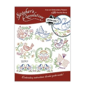Iron-On Embroidery Patterns - Fanciful Birds