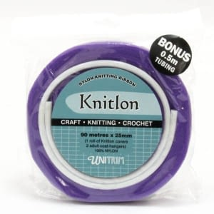 Knitlon Nylon Knitting Ribbon - Violet