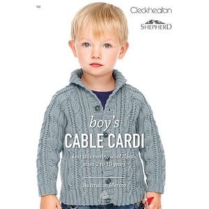 Boys Cable Cardi - Knitting Pattern Leaflet