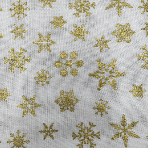 Christmas Print - Gold Stars on White