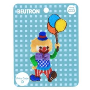 iron on motif clown with balloons