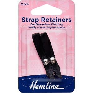 Strap Retainers For Sleeveless Clothing Black 2 pcs