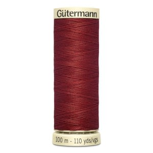 Gutermann Sew-all Thread 100m Colour 221 DARK RED BROWN