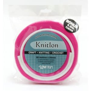 Knitlon Nylon Knitting Ribbon - Hot Pink