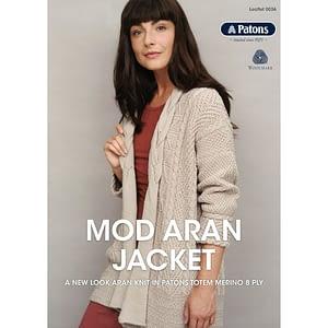 Mod Aran Jacket - Knitting Leaflet