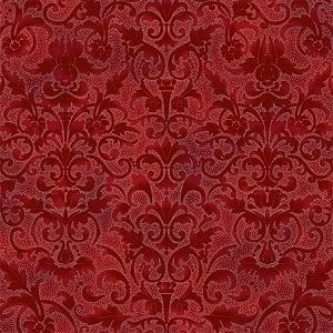 Christmas Print - Joyful Traditions Crimson/Silver