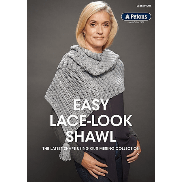Easy Lace-Look Shawl - Knitting Pattern Leaflet