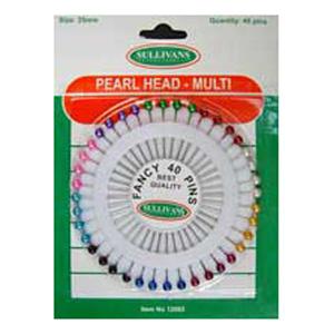 Pearl Head Pins - 40pk