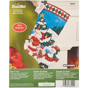 Bucilla Pick A Tree Felt Applique Stocking Kit (16-Inch)
