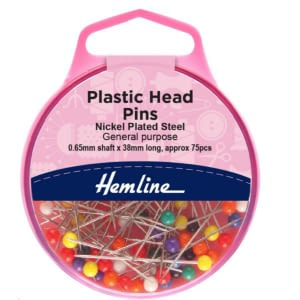Plastic Head Pins Pk 75
