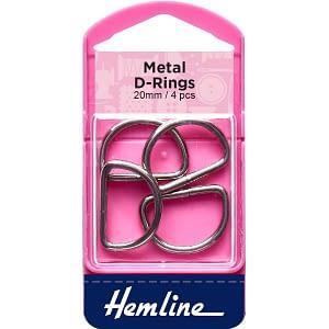 D-Ring Buckles 20mm Nickel 4 pcs
