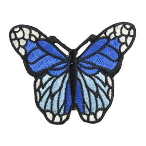 iron on motif blue butterfly