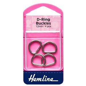 D-Ring Buckles 12mm Nickel 4 pcs