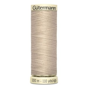 Gutermann Sew All Thread – Beige #722 100 METRE