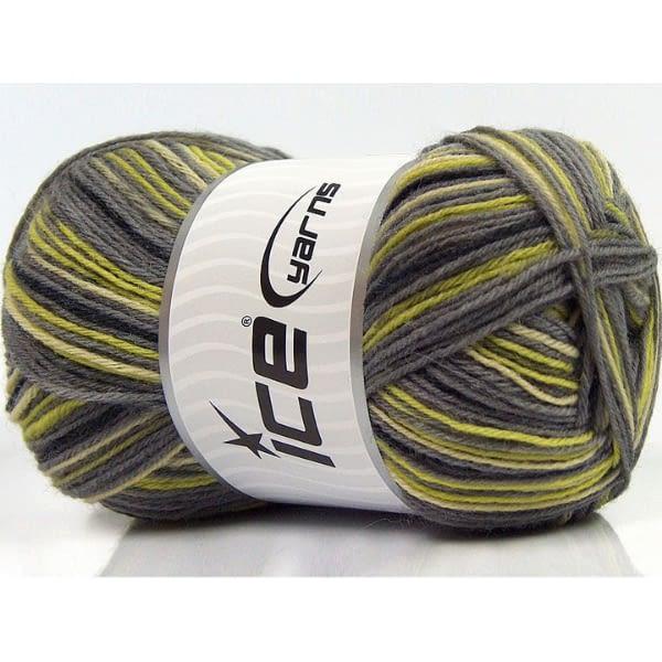 Sock Yarn - Black, Grey & Green 2