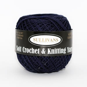 Crochet Cotton - Navy 50g