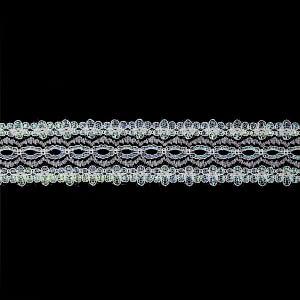 Eyelet Lace 35mm – Blue Metallic – 5 Metre Value Pack