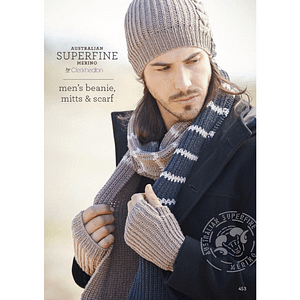 Men's Beanie, Mitts And Scarf
