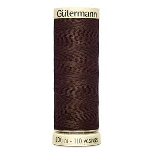 Gutermann Sew-all Thread, 100% Polyester, 100m, Colour 694 DARK COFFEE BROWN