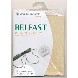 Zweigart Precut Belfast 32Ct12.6St 48x68cm Linen Light Sand