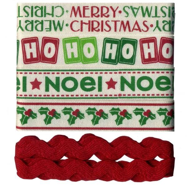 Christmas Ribbons - Set of 5
