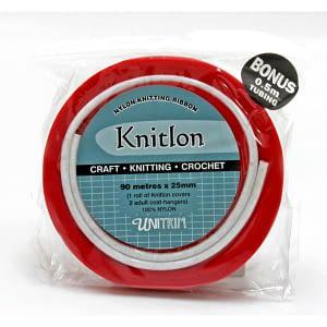 Knitlon Nylon Knitting Ribbon - Red