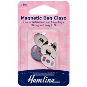 Magnetic Bag Clasp 18mm Silver 1 Set