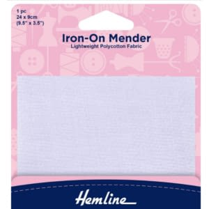 Iron-On Mender 24x9cm White 1 pc