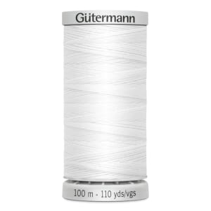 Gutermann Extra Strong Polyester Thread, #800 WHITE