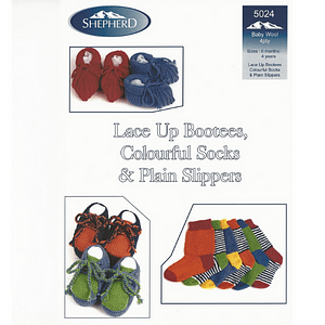 Bootees Socks & Slippers - Knitting Pattern Leaflet